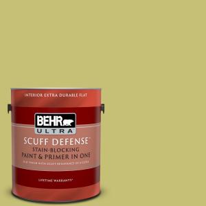 Behr Ultra 1 Gal Ppu9 07 Fresh Sprout Extra Durable Flat Interior Paint Primer 172401 The Home Depot