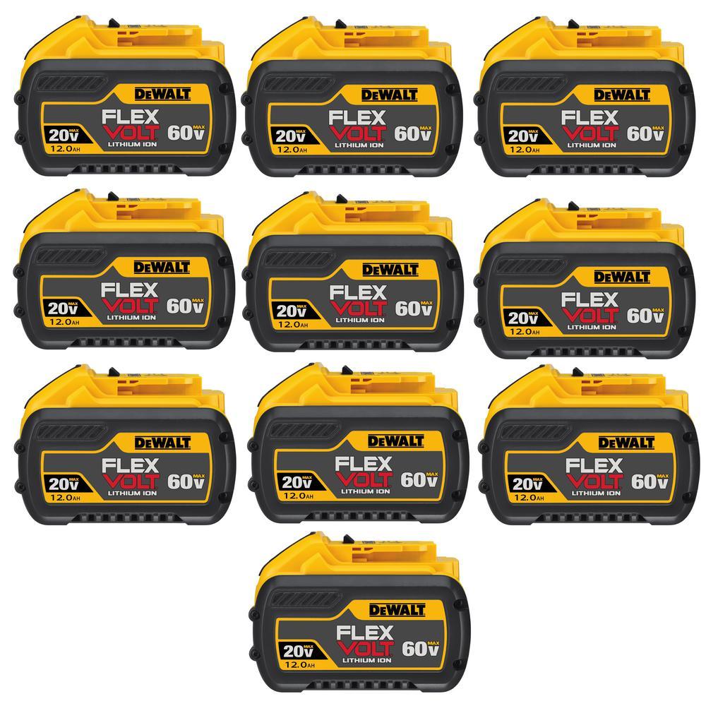 FLEXVOLT 20-Volt/60-Volt MAX 12.0Ah Battery Pack (10-Pack)