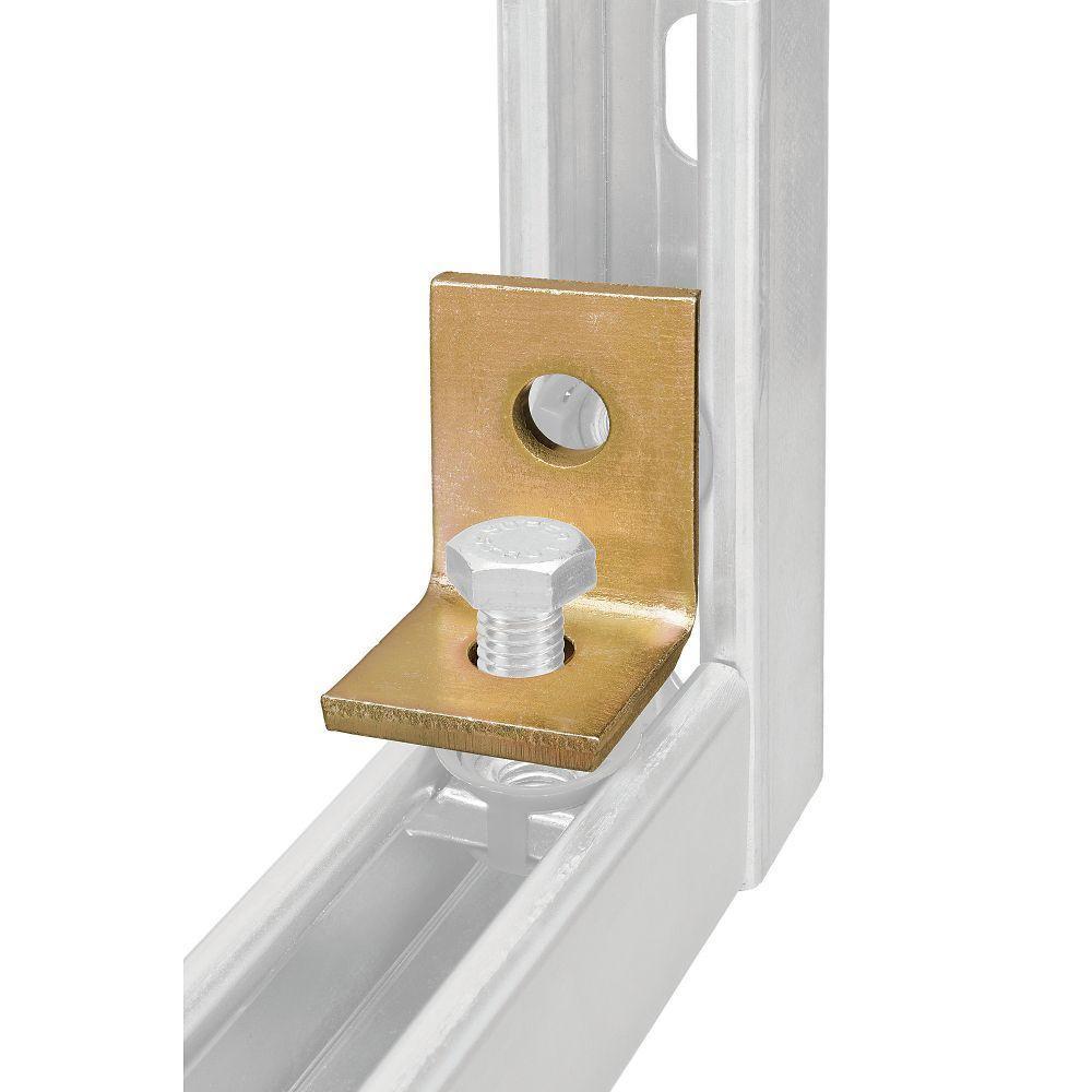 2-Hole 90° Angle Bracket - Gold Galvanized (Case of 10)
