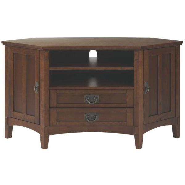 Home Decorators Collection Artisan Dark Oak Storage Entertainment Center 9224600930