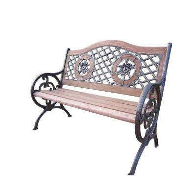 Double Rose Patio Bench