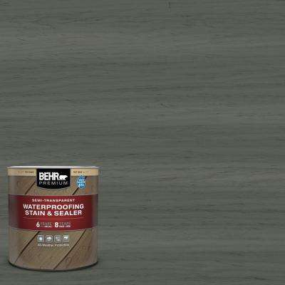 1 qt. #ST-131 Pewter Semi-Transparent Waterproofing Exterior Wood Stain and Sealer