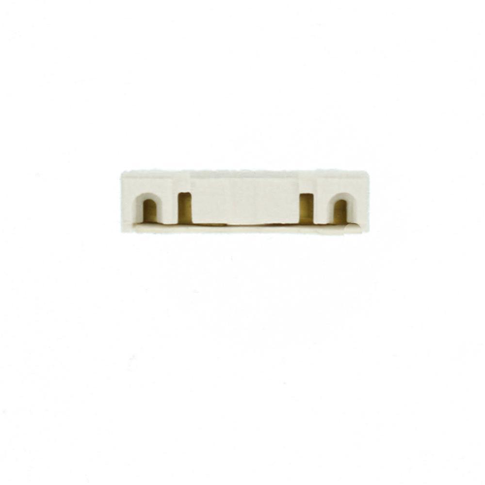 Leviton 390-1W Medium Base Pedestal 2-Screw Terminal Screw Mount Standard Fluorescent Lampholder Turn-Type Bi-Pin White