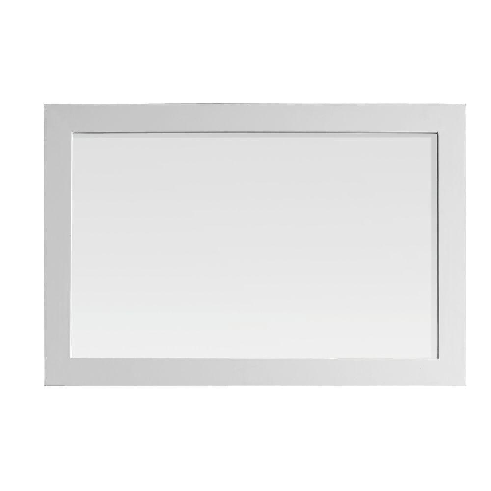 belle foret gigi 24 in. l x 36 in. w framed wall mirror in white