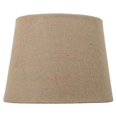 Mix and Match 10 in. Dia x 7.5 in. H Burlap Round Accent Shade