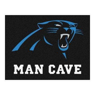 Carolina Panthers Black Man Cave 2 ft. 10 in. x 3 ft. 9 in. Accent Rug