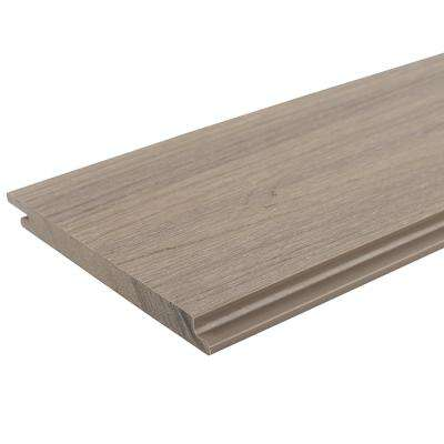 All Weather System 5.5 in. x 96 in. Composite Siding Board in Roman Antique