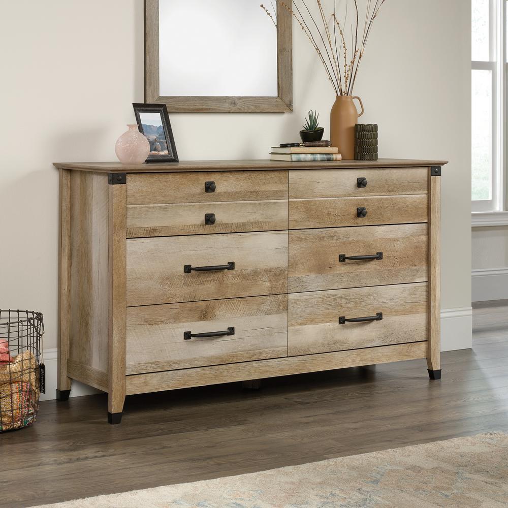 Carson Forge 6-Drawer Lintel Oak Dresser