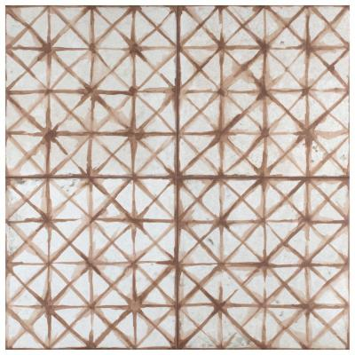 Kings Temple Oxide Encaustic 17-5/8 in. x 17-5/8 in. Ceramic Floor and Wall Tile (11.02 sq. ft. / case)