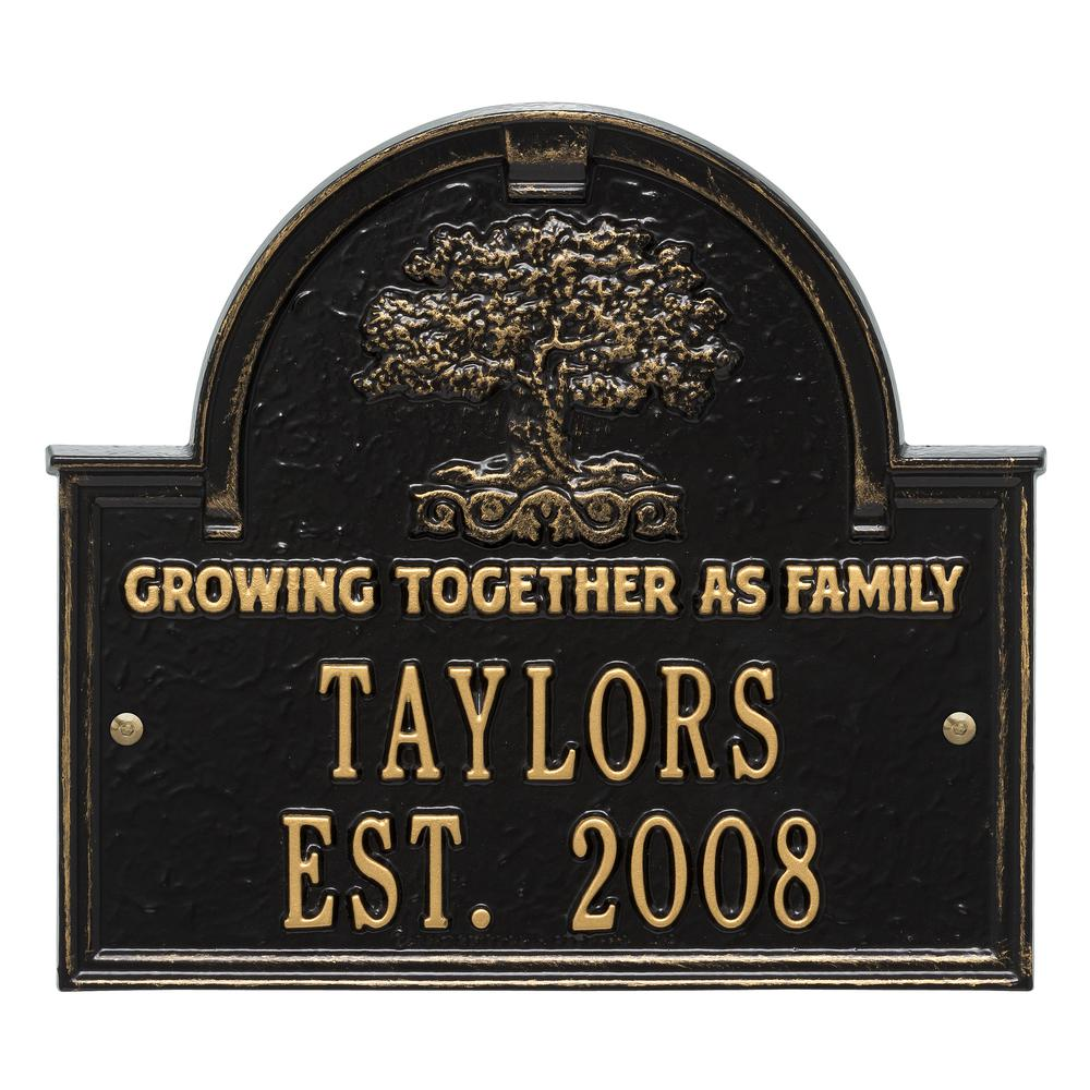 family tree anniversary wedding personalized arched plaque 3304bg