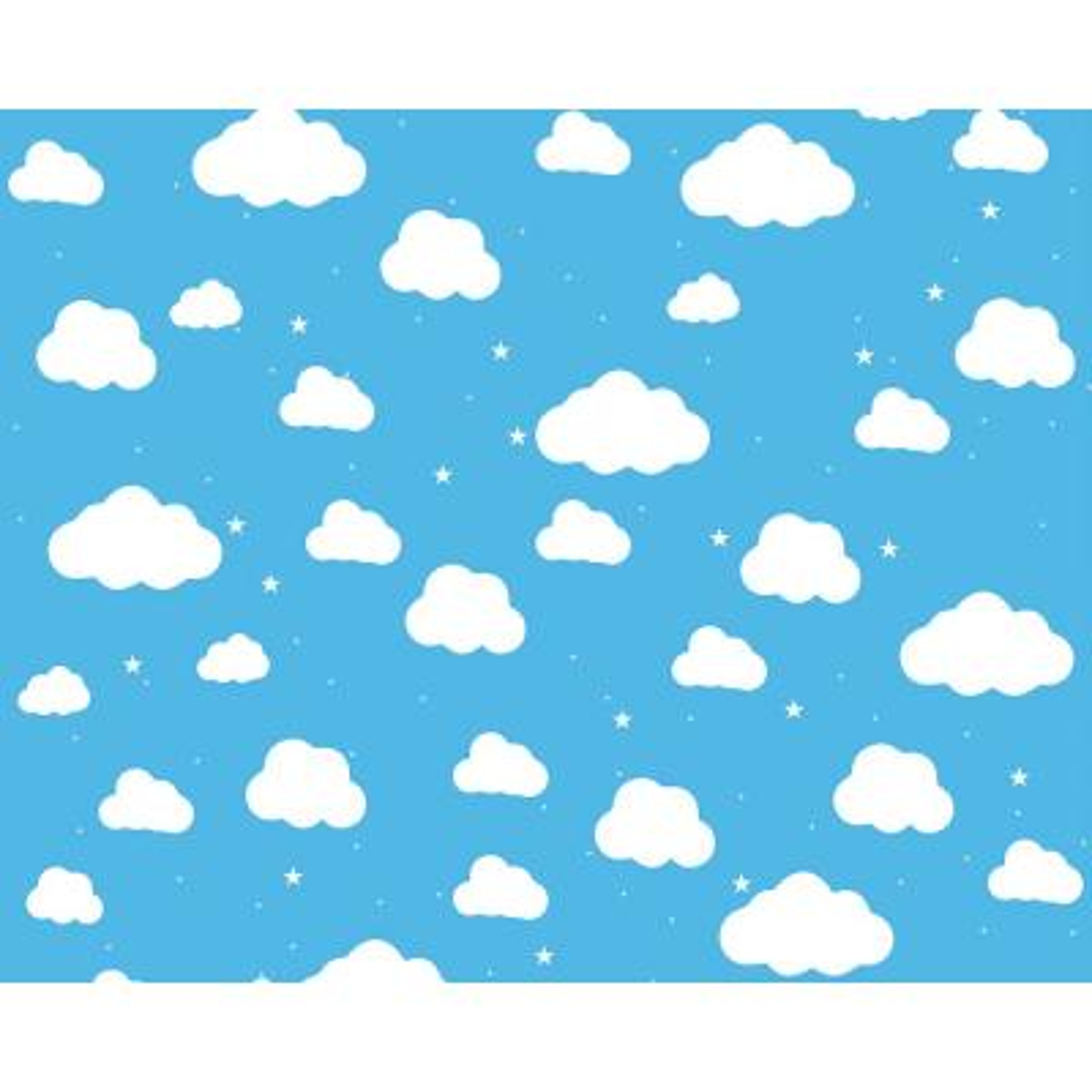 Cartoon Cloudy Sky Wall Mural