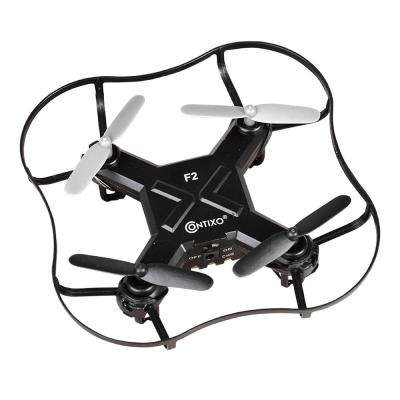 F2 Mini Pocket Drone 4CH 6 Axis Gyro RC Micro Quadcopter with 3D Flip, Intelligent Fixed Altitude (Black)