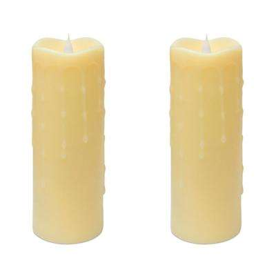 "Simplux LED Dripping Candle (Set of 2) 3""D x 9""H Wax/Plastic"