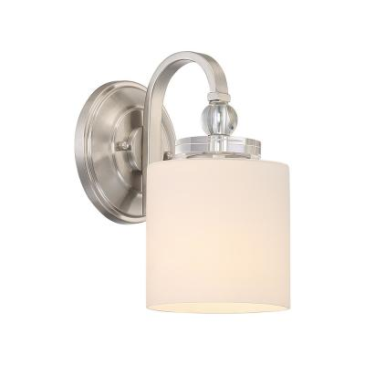 Downtown 1-Light Brushed Nickel Wall Sconce