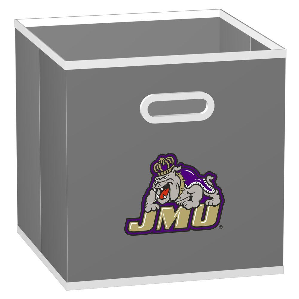 MyOwnersBox College STOREITS James Madison University 10-1/2 in. W x 10-1/2 in. H x 11 in. D Grey Fabric Storage Drawer