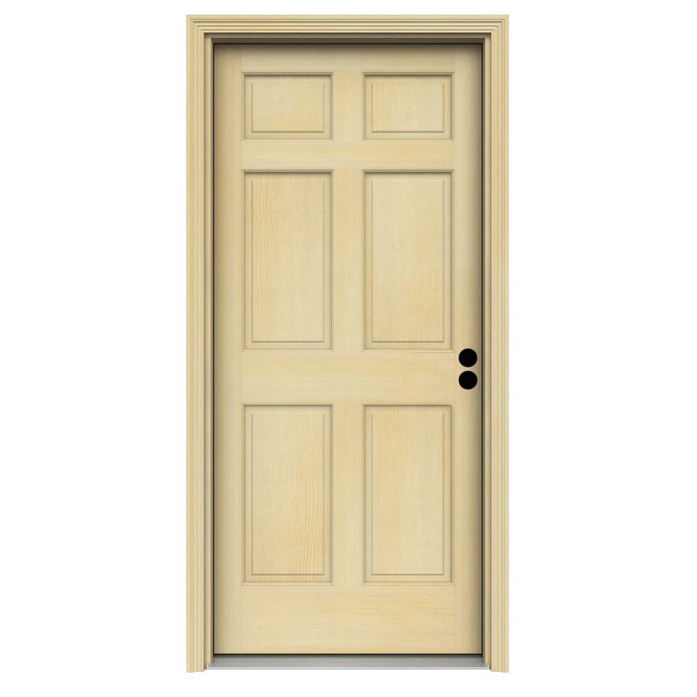 32 X 80 6 Panel Front Doors Exterior Doors The Home Depot