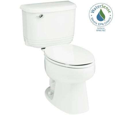Riverton 2-piece 1.28 GPF Single Flush Elongated Toilet in White