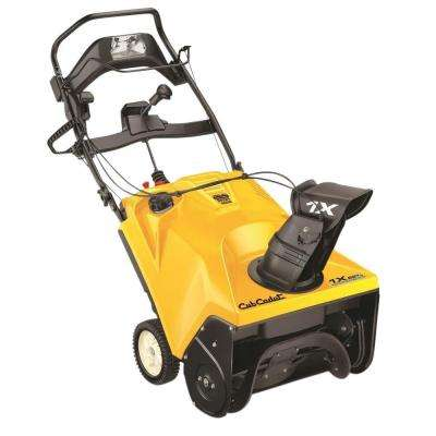 21 in. 208cc Single-Stage Electric Start Gas Snow Blower with Headlight