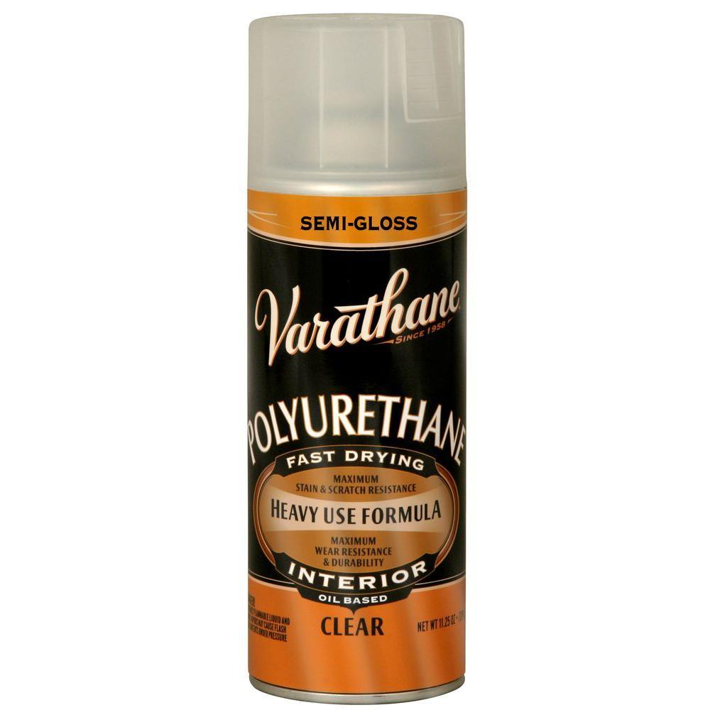 Varathane 11.25 oz. Clear Semi-Gloss Oil-Based Interior Polyurethane Spray Paint (6-Pack)