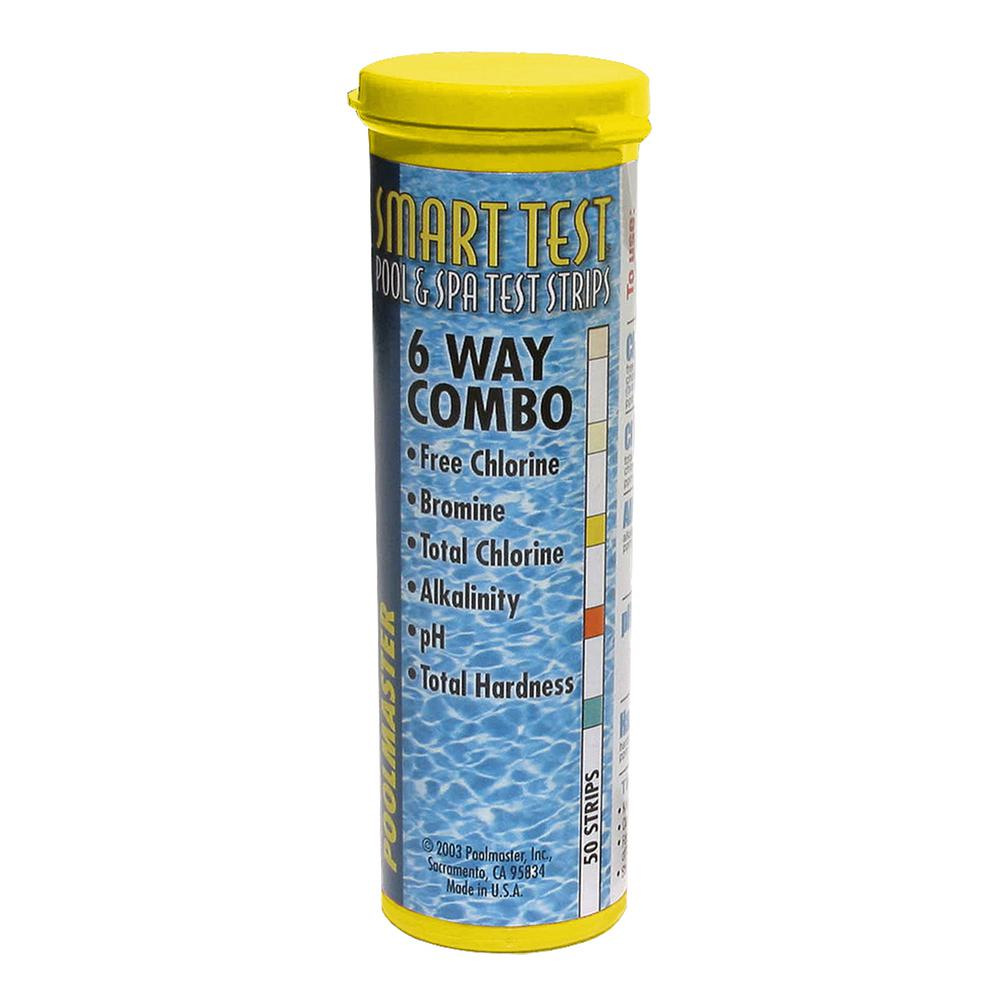 Smart Test 6-Way Pool and Spa Test Strips - 50 Count
