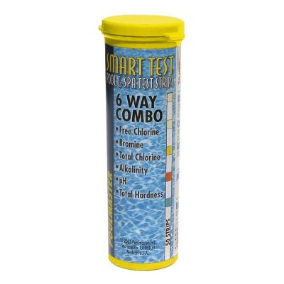 Smart Test 6-Way Swimming Pool and Spa Water Test Strips - 50 Count