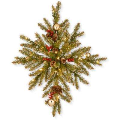 32 in. Glittery Gold Dunhill Fir Bethlehem Star with Battery Operated LED Lights