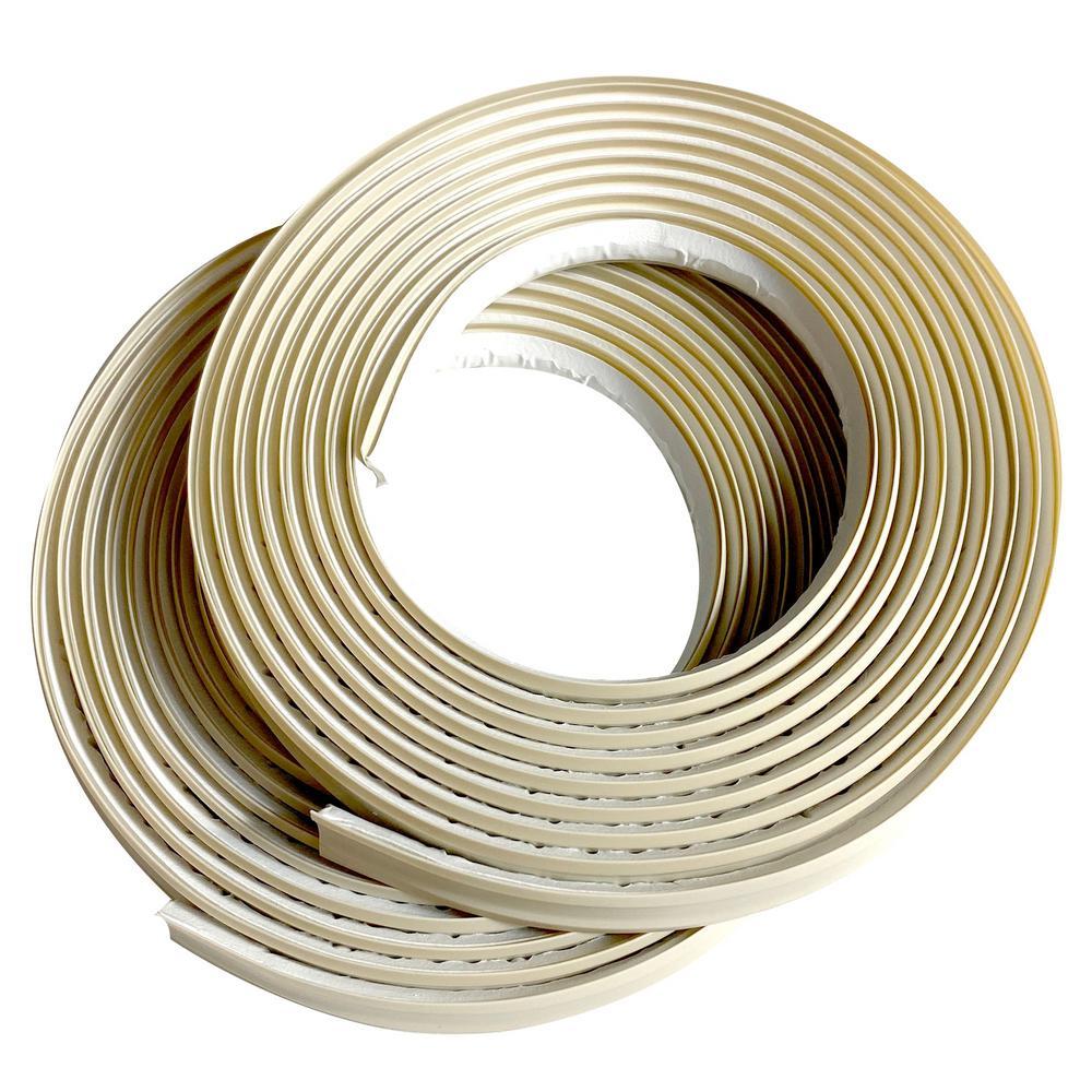 1/2 in. x 3/8 in. x 120 in. PVC Inside Corner Self-adhesive Flexible Trim Moulding (2-Pack)