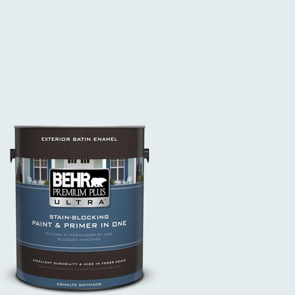BEHR Premium Plus Ultra 1-gal. #W-D-510 Waterfall Mist Satin Enamel Exterior Paint
