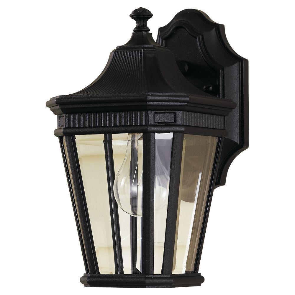 Cotswold Lane 1-Light Black Outdoor Wall Lantern