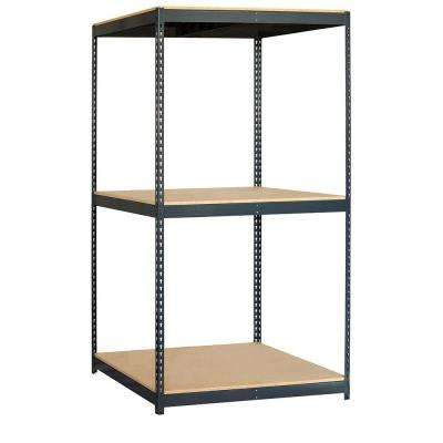 9700 Series 48 in. W x 84 in. H x 36 in. D Heavy Duty Steel and Particleboard Solid Shelving