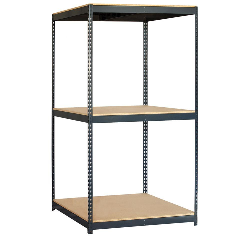 Salsbury Industries 9700 Series 48 in. W x 84 in. H x 36 in. D Heavy Duty Steel and Particleboard Solid Shelving