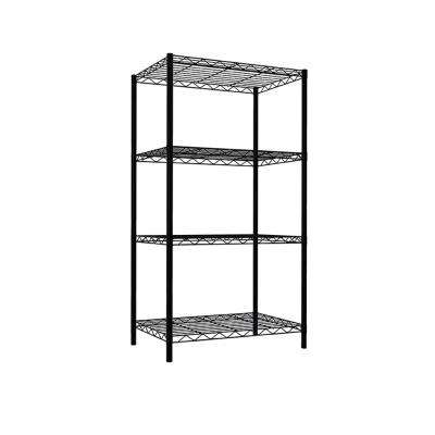 46.5 in. x 13.8 in 4 Tier Wire Steel Shelving Unit
