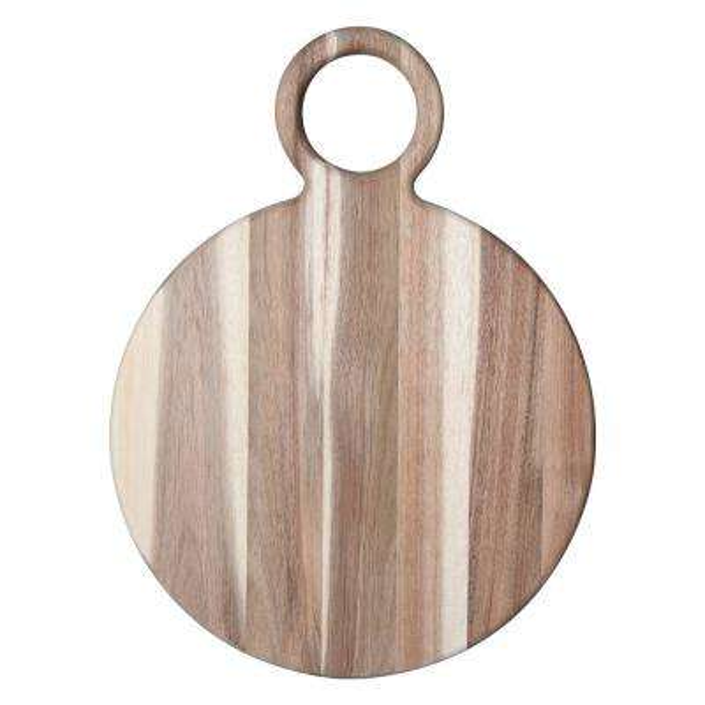 19 in. Natural Round Acacia Wood Cheese Board