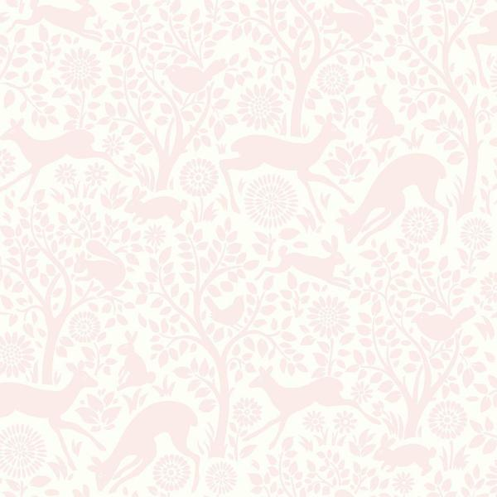 Chesapeake Anahi Light Pink Forest Fauna Wallpaper HAS01231