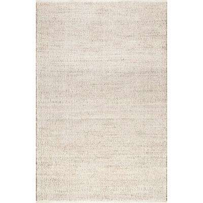 Elfriede Solid Jute Natural 3 ft. x 6 ft. Area Rug