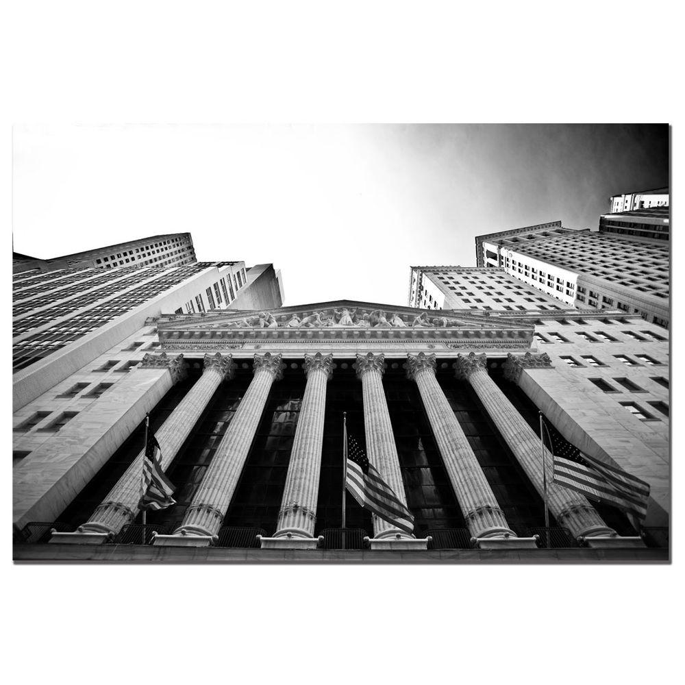 null 14 in. x 19 in. New York Stock Exchange Canvas Art