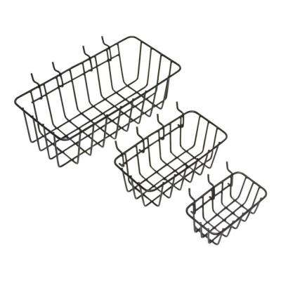 1/8 in. 1-Compartment Small Part Organizer Peggable Wire Baskets (3-Pack)