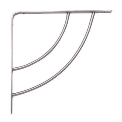 Milano 8 in. x .75 in. Platinum 25 lb. Decorative Shelf Bracket