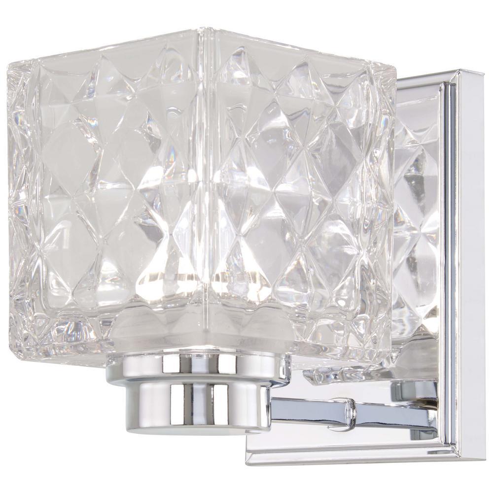 Glorietta 40-Watt Equivalence Chrome Integrated LED Bath Light