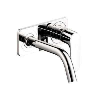 Citterio M Wall-Mount 1-Handle Single Hole Bathroom Faucet in Chrome with Baseplate