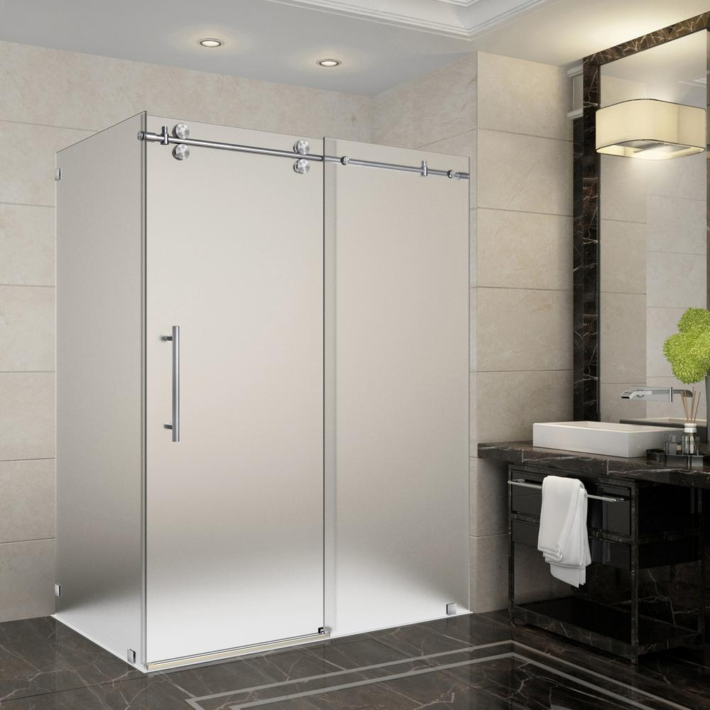 Frosted - Bypass/Sliding - Shower Doors - Showers - The Home Depot