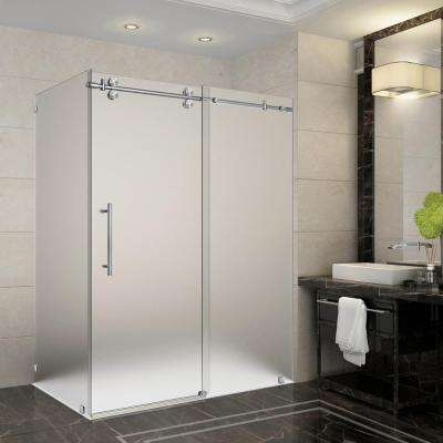 Frosted shower doors showers the home depot langham 56 in 60 in x 338125 in x 75 in frameless planetlyrics Image collections