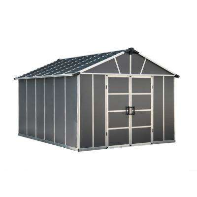 Yukon 11 ft. W x 13.1 ft. D x 8.3 ft. H Dark Gray Storage Shed