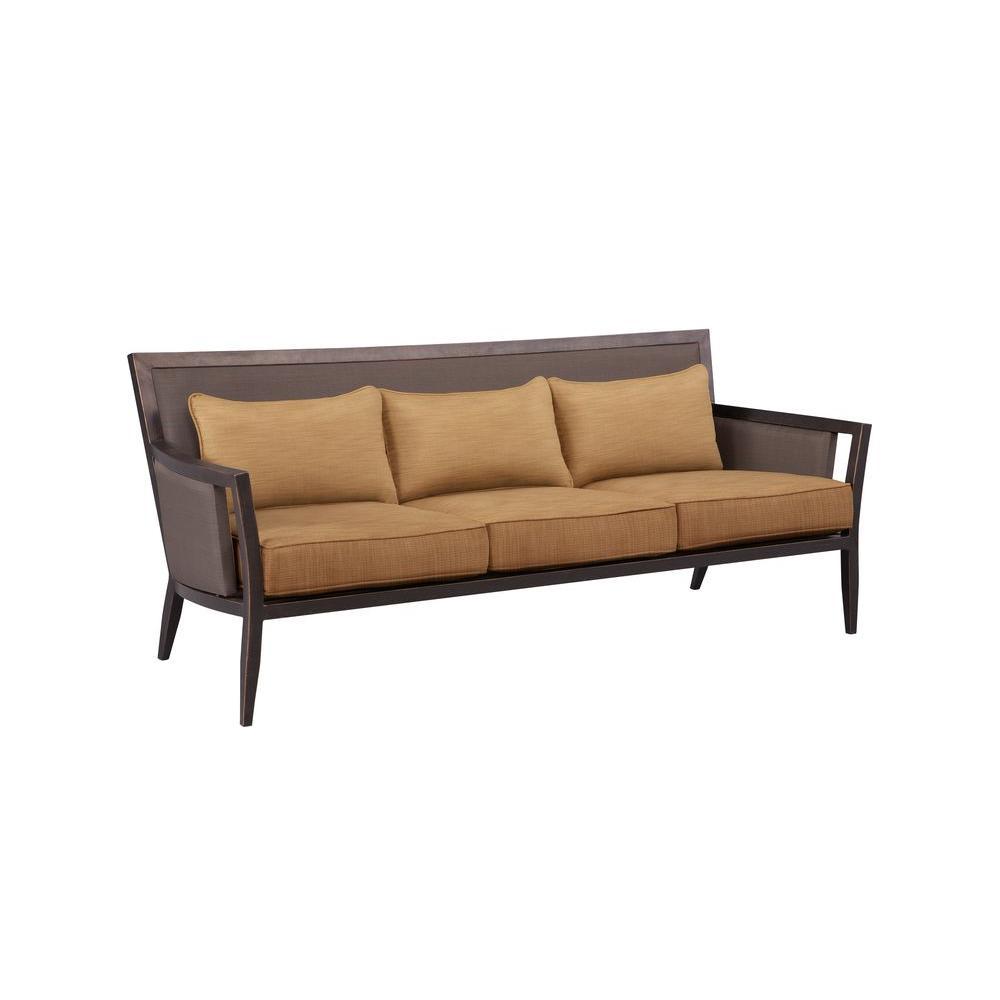 Brown Jordan Sofa Toffee Cushions Custom
