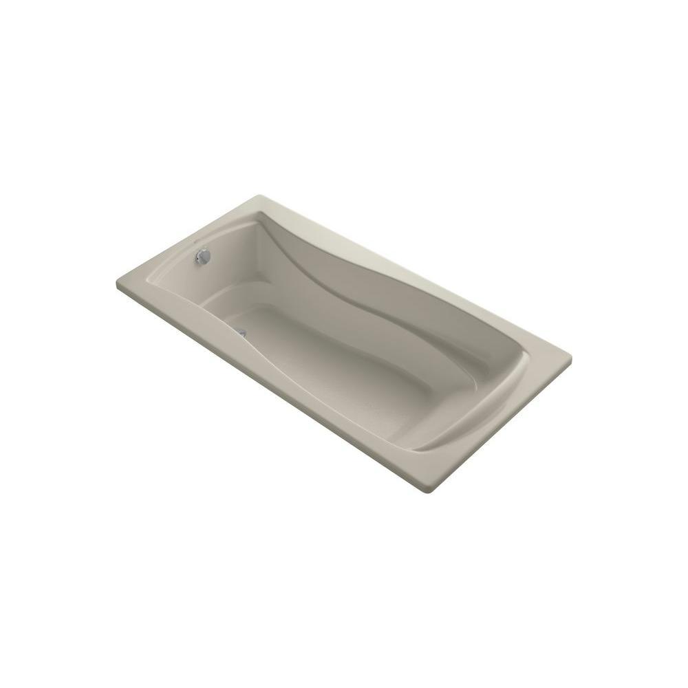 KOHLER Mariposa 6 ft. Rectangular Drop-in Reversible Drain Bathtub in Sandbar