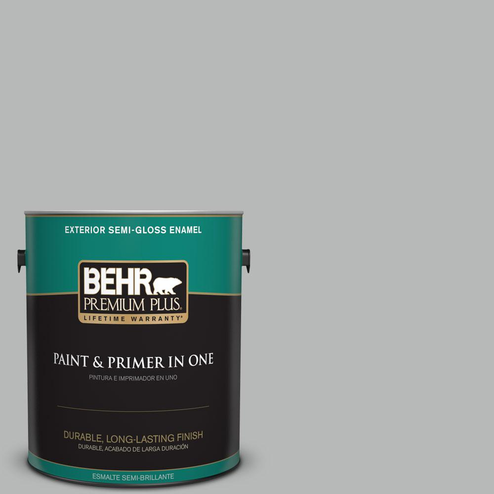 1-gal. #N460-3 Lunar Surface Semi-Gloss Enamel Exterior Paint