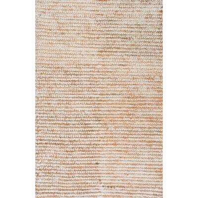 Remina Casual Solid Jute Natural 6 ft. x 9 ft.  Area Rug
