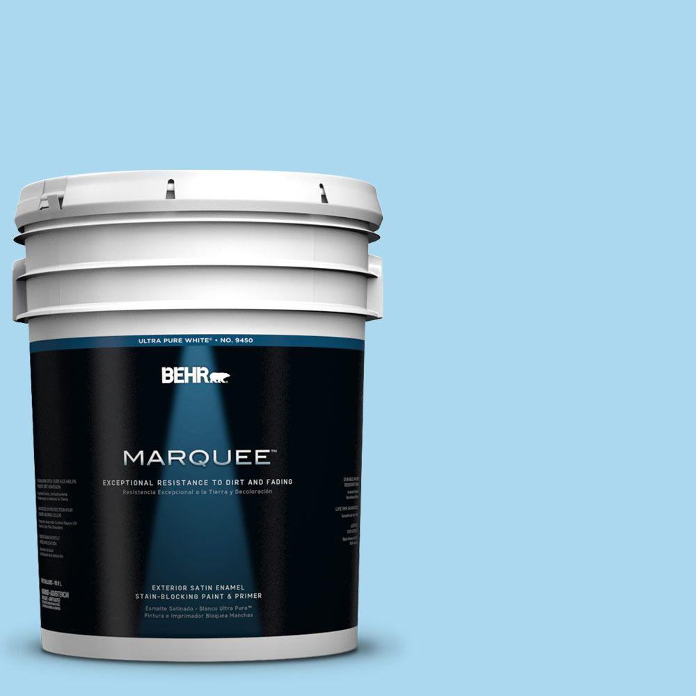 BEHR MARQUEE 5-gal. #540A-3 Blue Feather Satin Enamel Exterior Paint