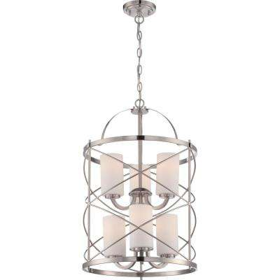 Selena 6-Light Brushed Nickel Chandelier