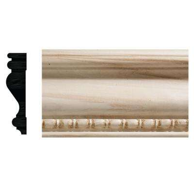 885-7 3/4 in. x 3 in. x 84 in. White Hardwood Bead and Reel Casing Moulding